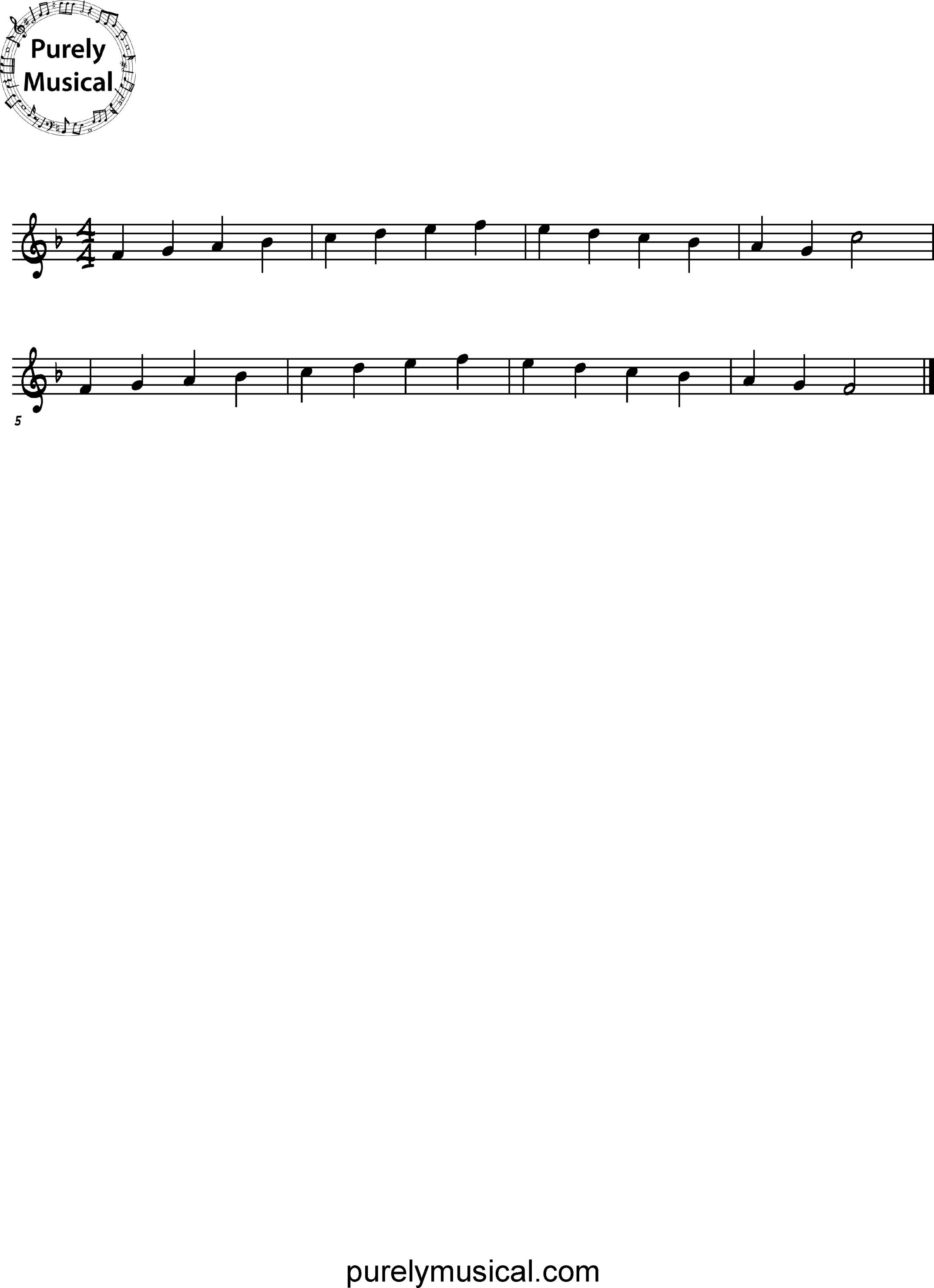 Beginner  Scale F Major